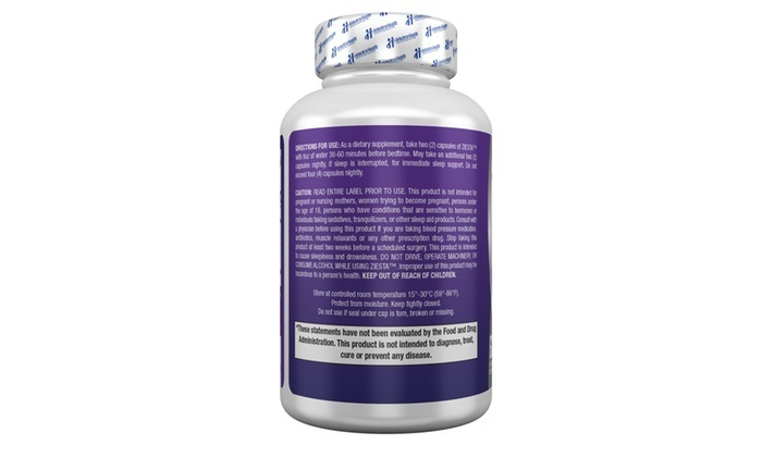 ZIESTA Sleep Supplement From Intechra Health